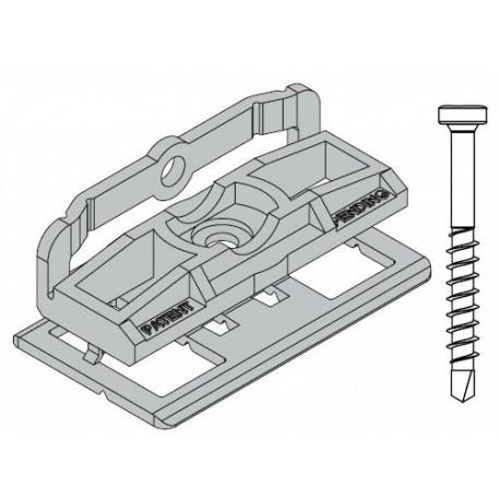 PVC spona 9484 pro WPC a dřevěné podkladové podkladní profily (600ks)