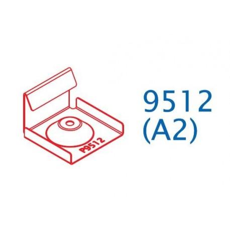 Počáteční a koncová spona 9512 pro hlníkové podkladní profily (10ks)