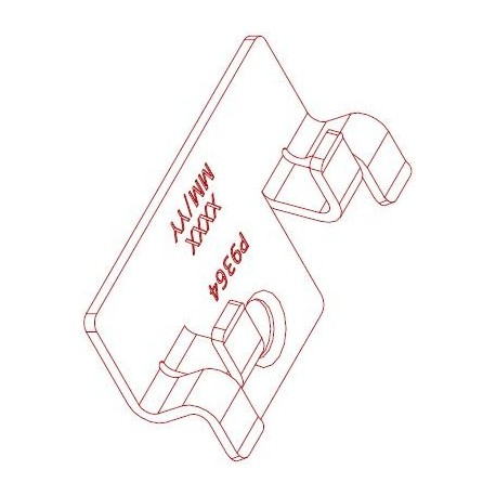 Nerezová spona 9477 pro WPC a dřevěné podkladní profily (100ks)